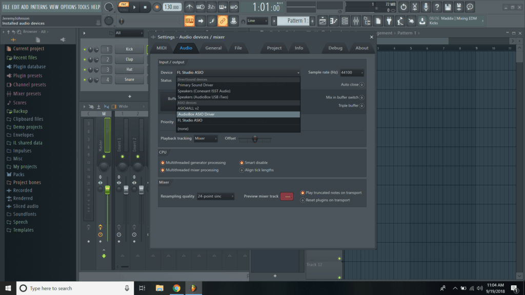 how to get asio to work in fl studio