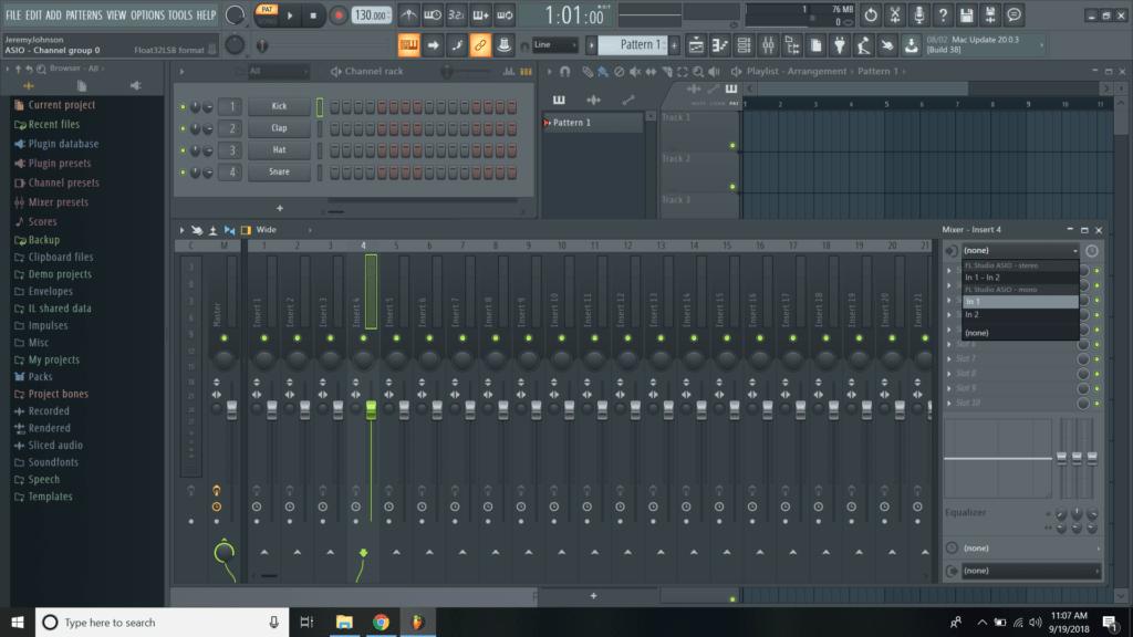 record with fl studio 12
