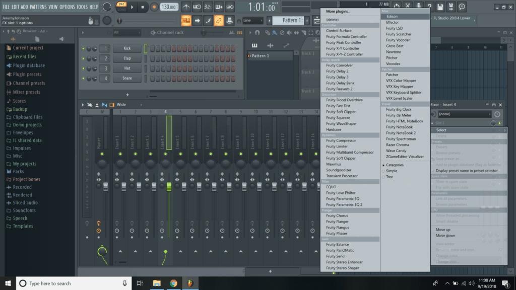 fl studio crackling when recording
